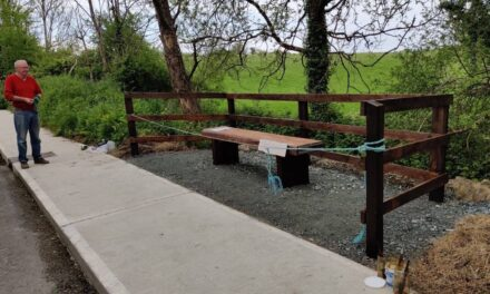 A New Seating Area at Tutty's Brook.